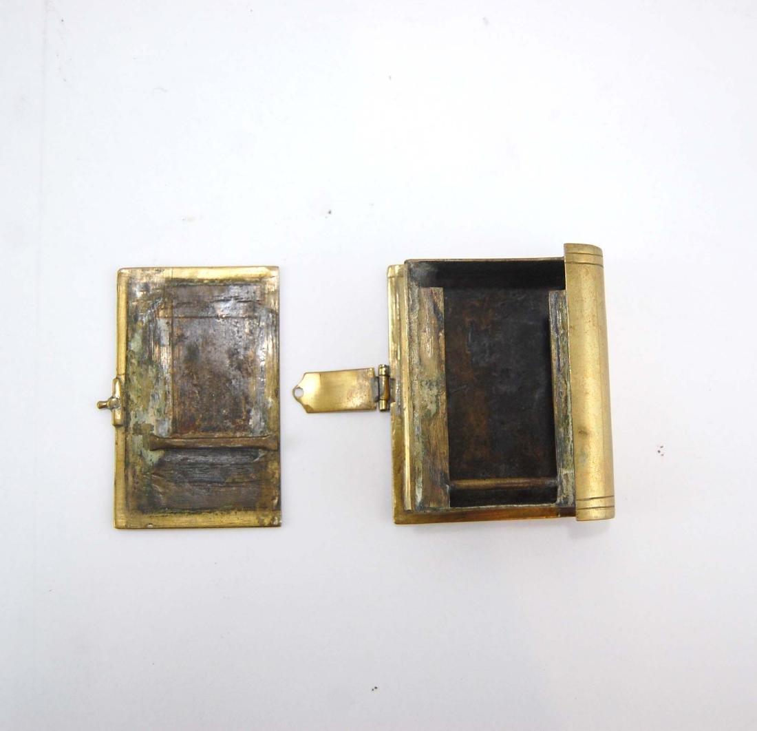 3 Metal Brass Book Design Hidden Containers - 7