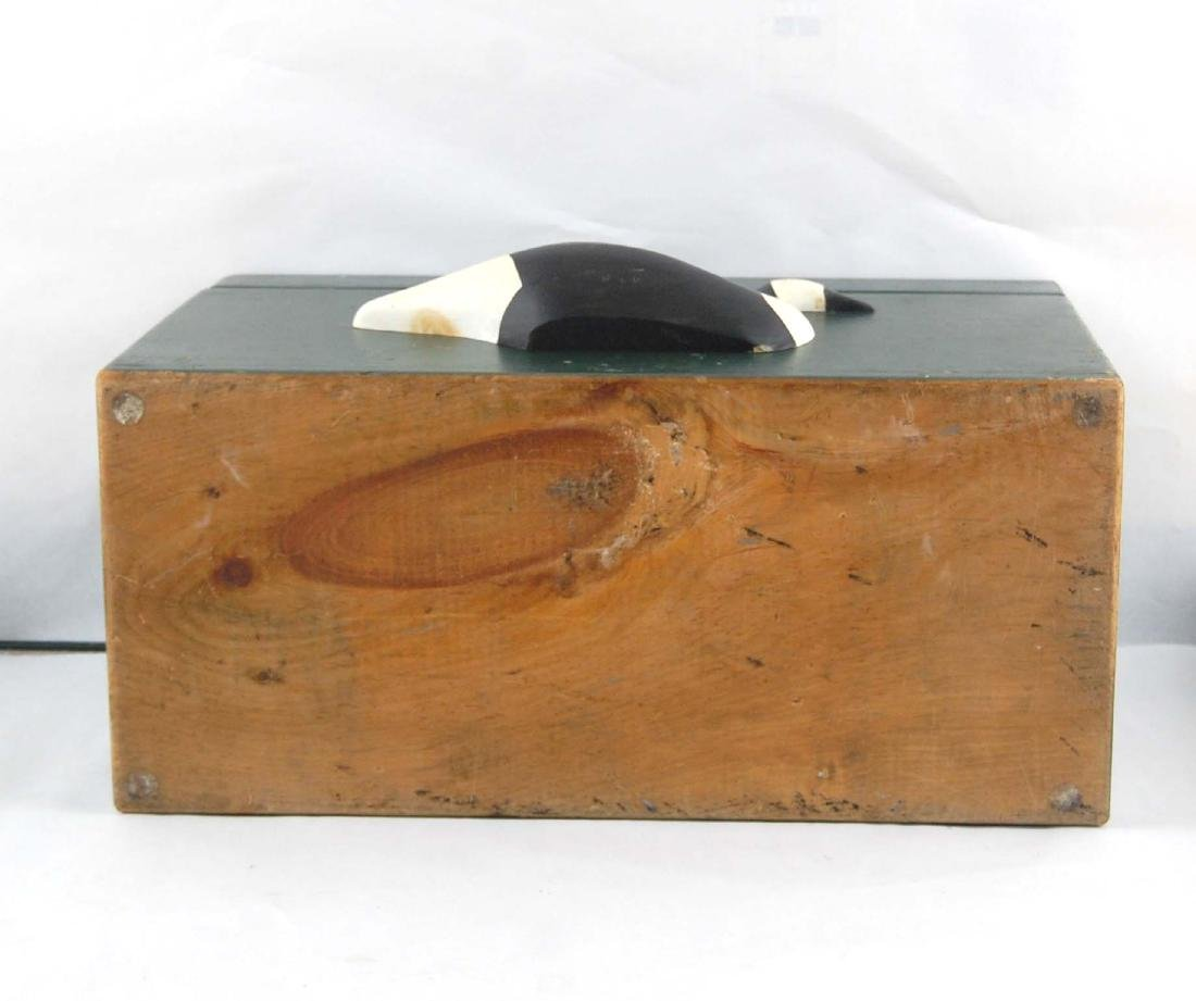 Solid Wooden Goose Storage Box Container - 4