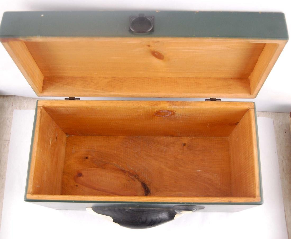 Solid Wooden Goose Storage Box Container - 7