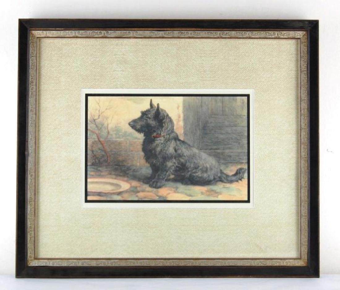 Herbert Dicksee Scotty Dog Reproduction Print