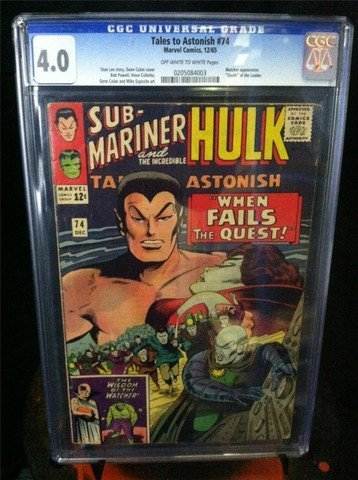 Tales To Astonish #74 Namor & Hulk 1965 CGC Graded 4.0