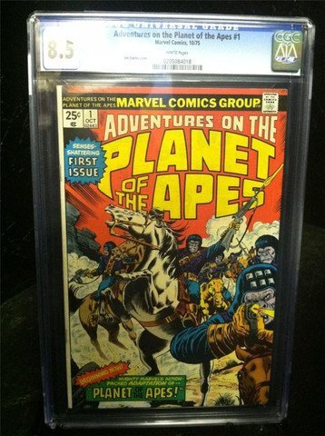 Planet of the Apes #1 October 1975 CGC Graded 8.5