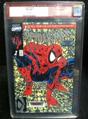 Spider-Man #1 August 1990 Platinum CGC 8.5
