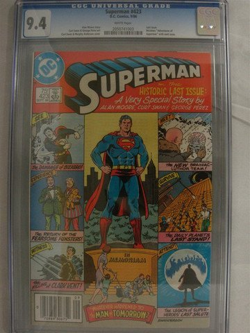 Superman #423 Sep 1986 Last Issue Alan Moore CGC 9.4