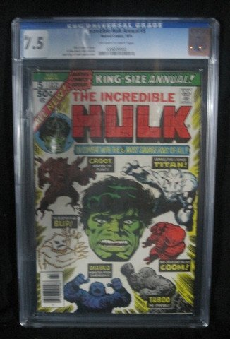 The Incredible Hulk #5 1976 CGC Graded 7.5