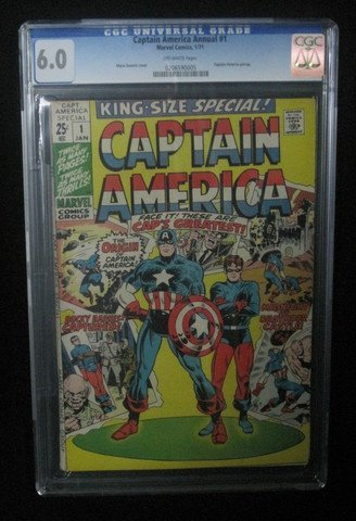 Captain America Annual #1 January 1971 CGC Graded 6.0