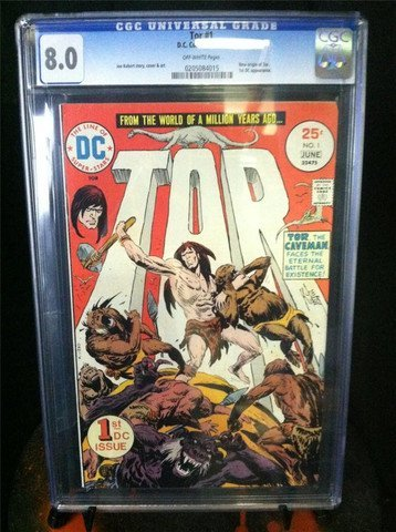 Tor Issue 1 June 1975 DC Comics CGC Graded 8.0