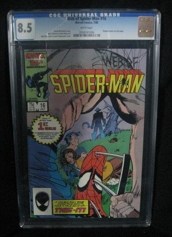 Web of Spider-Man #16 July 1986 CGC Graded 8.5