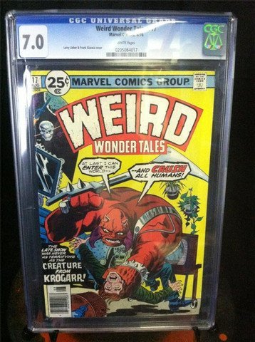 Weird Wonder Tales #17 August 1976 CGC Graded 7.0