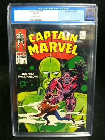 Captain Marvel #8 1968 CGC Graded 8.5