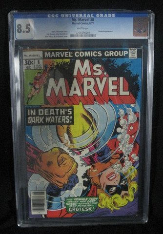 Ms. Marvel #8 August 1977 CGC Graded 8.5