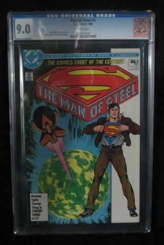 Man Of Steel Issue 1 1986 DC Comics CGC Graded 9.0