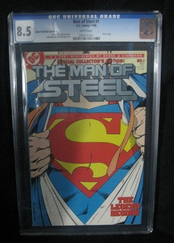 Man Of Steel #1 1986 Special Collectors Edition CGC 8.5