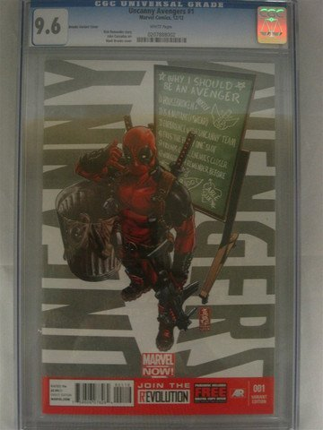 Uncanny Avengers #1 December 2012 CGC Graded 9.6