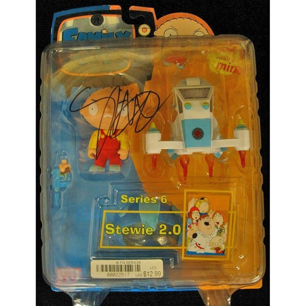 Seth MacFarlane Signed Family Guy Stewie Action Figure