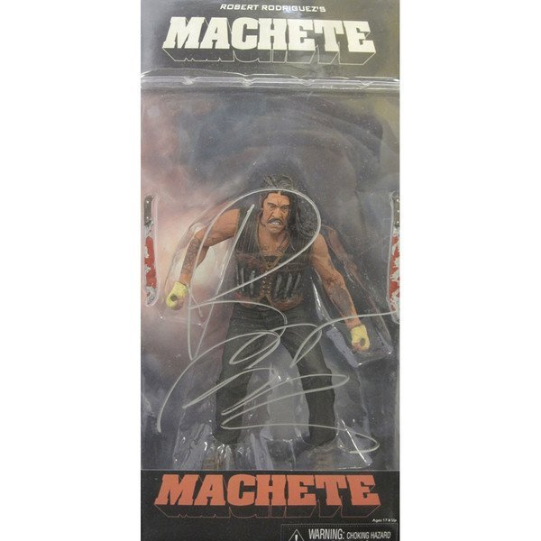 Robert Rodriguez Signed Machete Action Figure