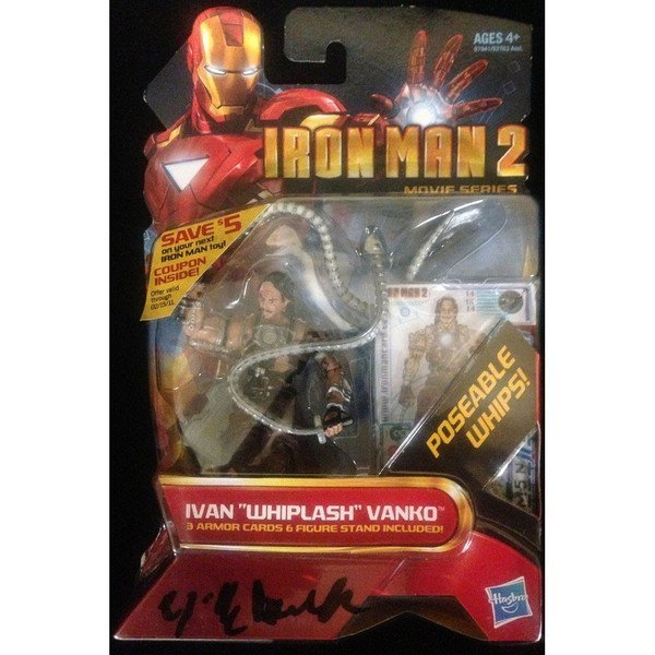 Mickey Rourke Signed Iron Man 2 Ivan Vanko Figure