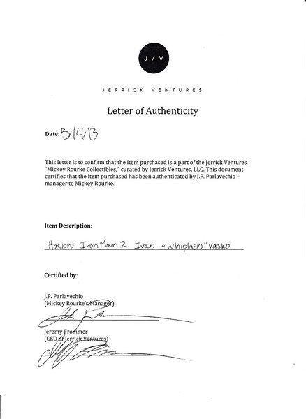 Mickey Rourke Signed Iron Man 2 Ivan Vanko Figure - 6