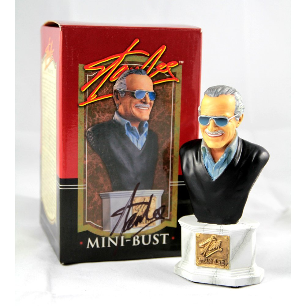 Stan Lee Signed Tribute Mini-Bust by Randy Bowen