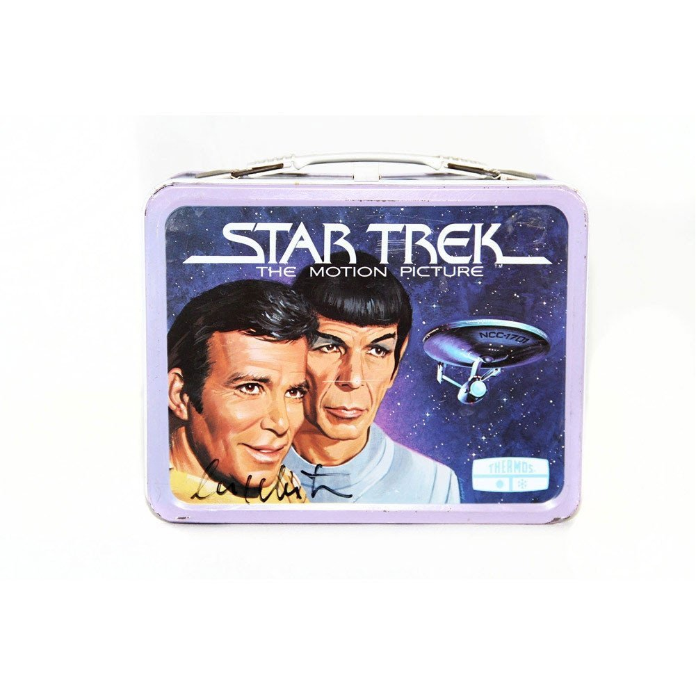 William Shatner Signed Star Trek Tin Lunchbox