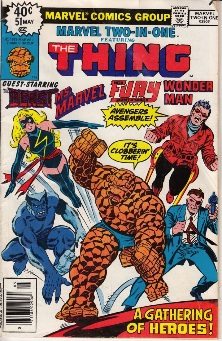 Marvel Two-In-One Issue Featuring The Thing #51 1979