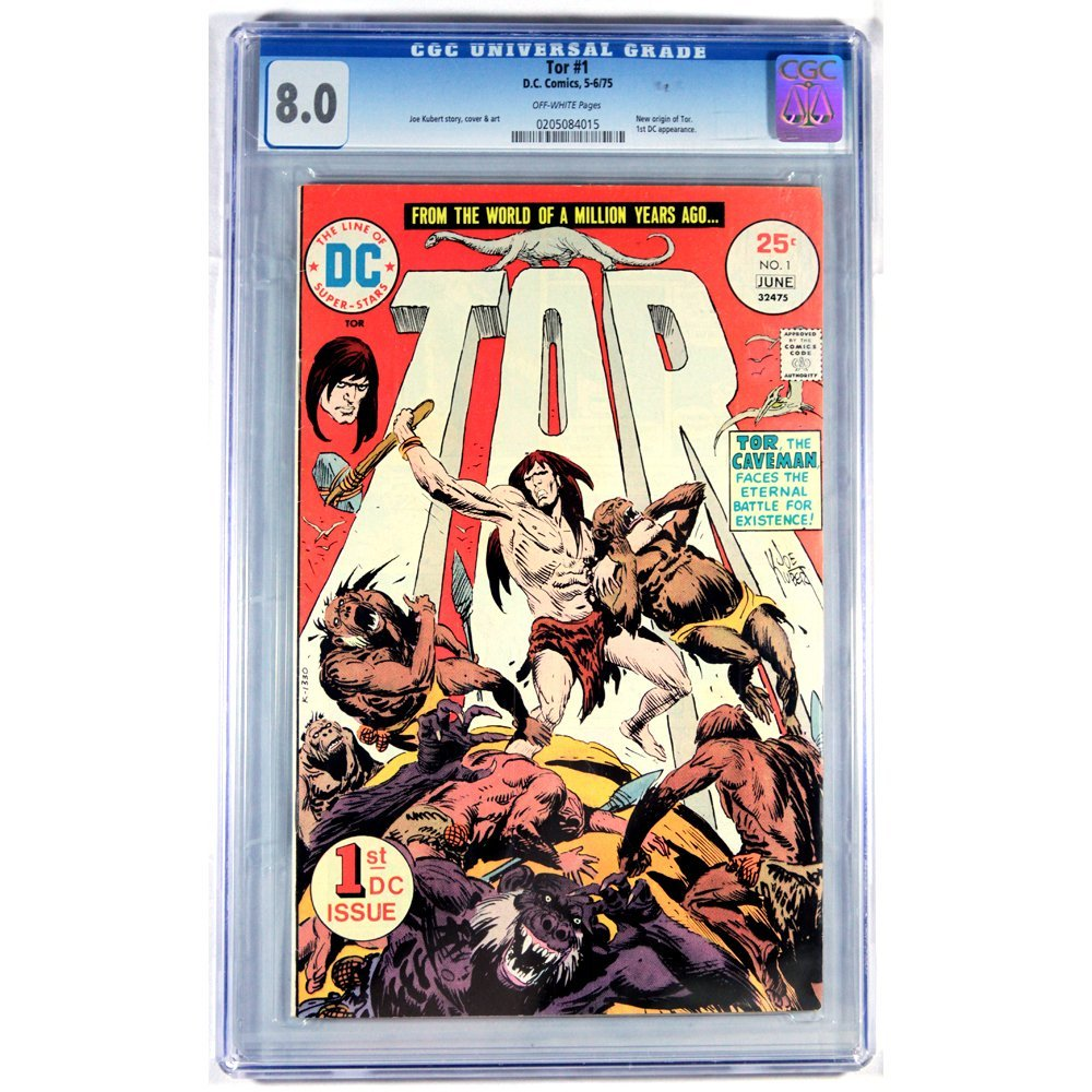 Tor Issue #1 1975 CGC Graded 8.0