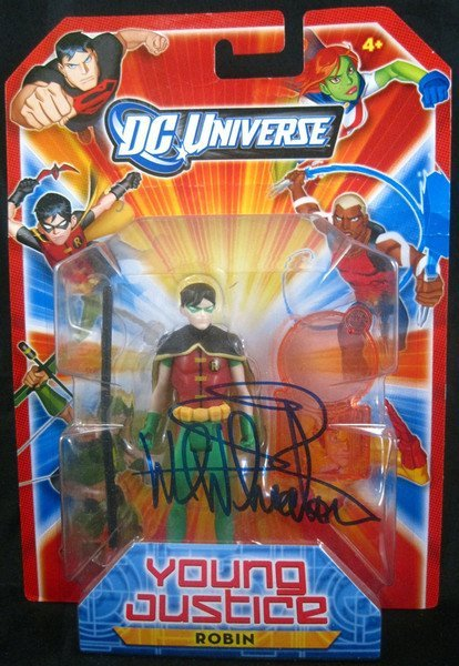 "Wil Wheaton Signed Young Justice Robin 4"" Figure"
