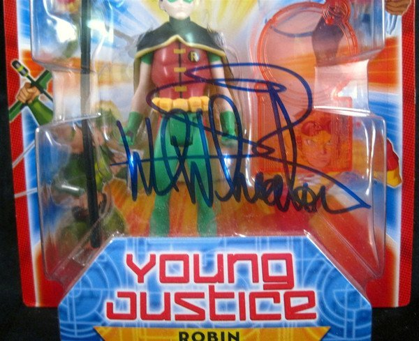 "Comic Wil Wheaton Signed Young Justice 4"" Action Figure - 2"