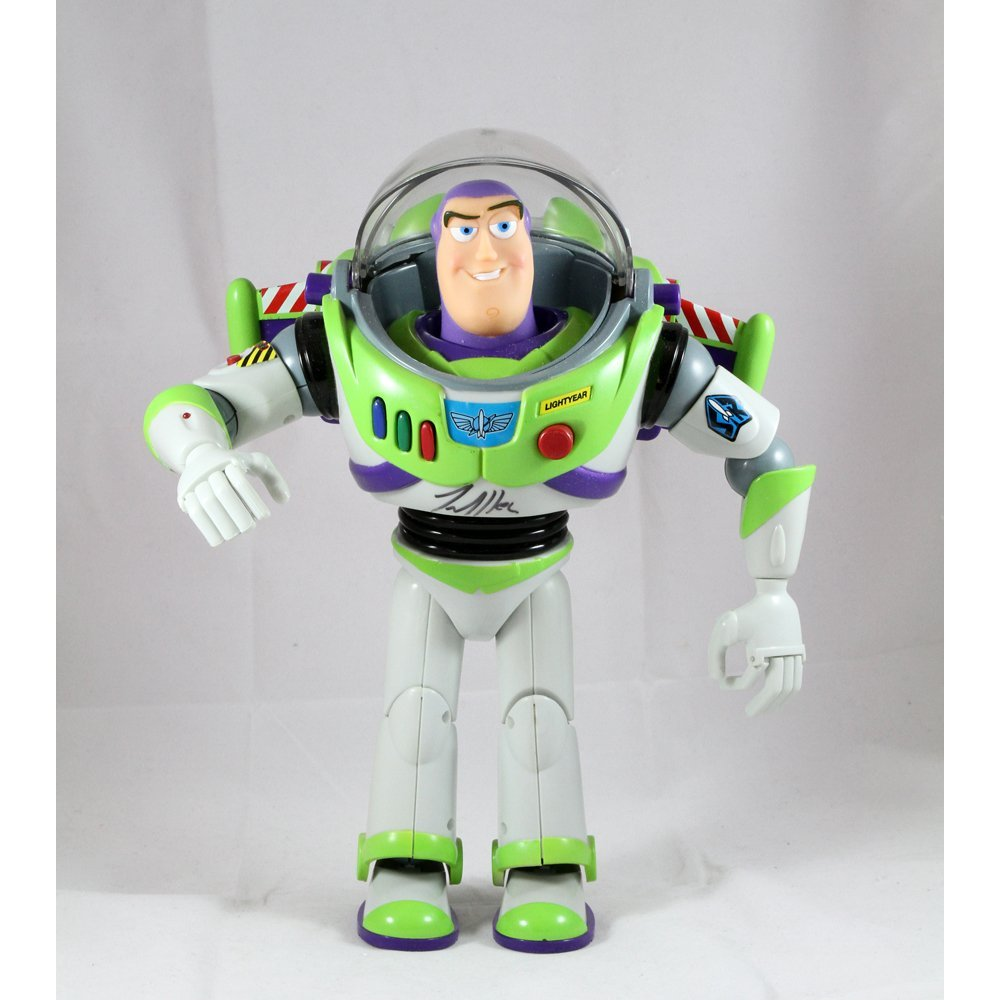 "Tim Allen Signed 12"" Buzz Lightyear Act Fig In Box(VG)"