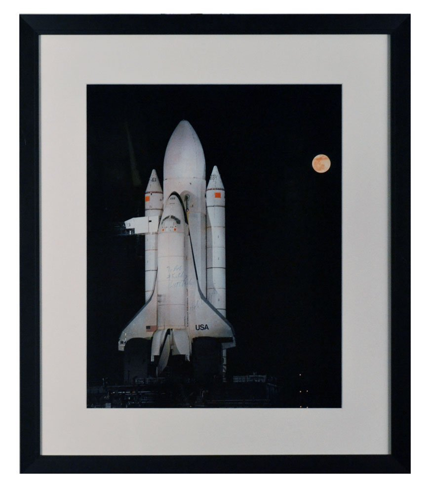 Robert Crippen Signed Space Shuttle Photo(Excellent)