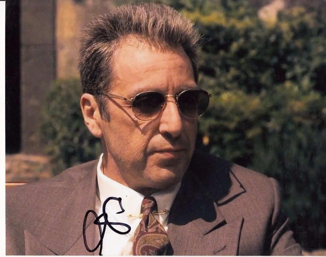 Al Pacino Signed The Godfather Part III 8x10 Photo(Ex)
