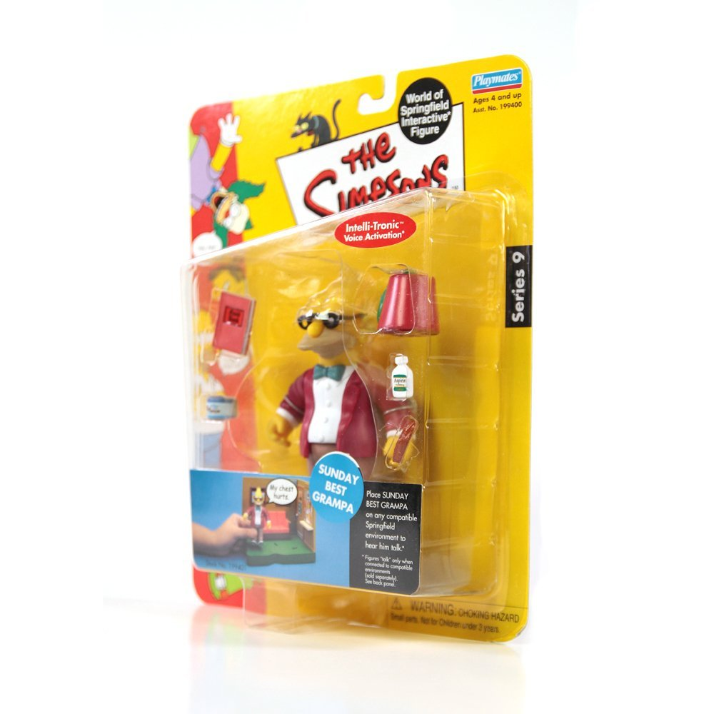 Playmates The Simpsons Grampa Figure Series 9(Ex) - 4