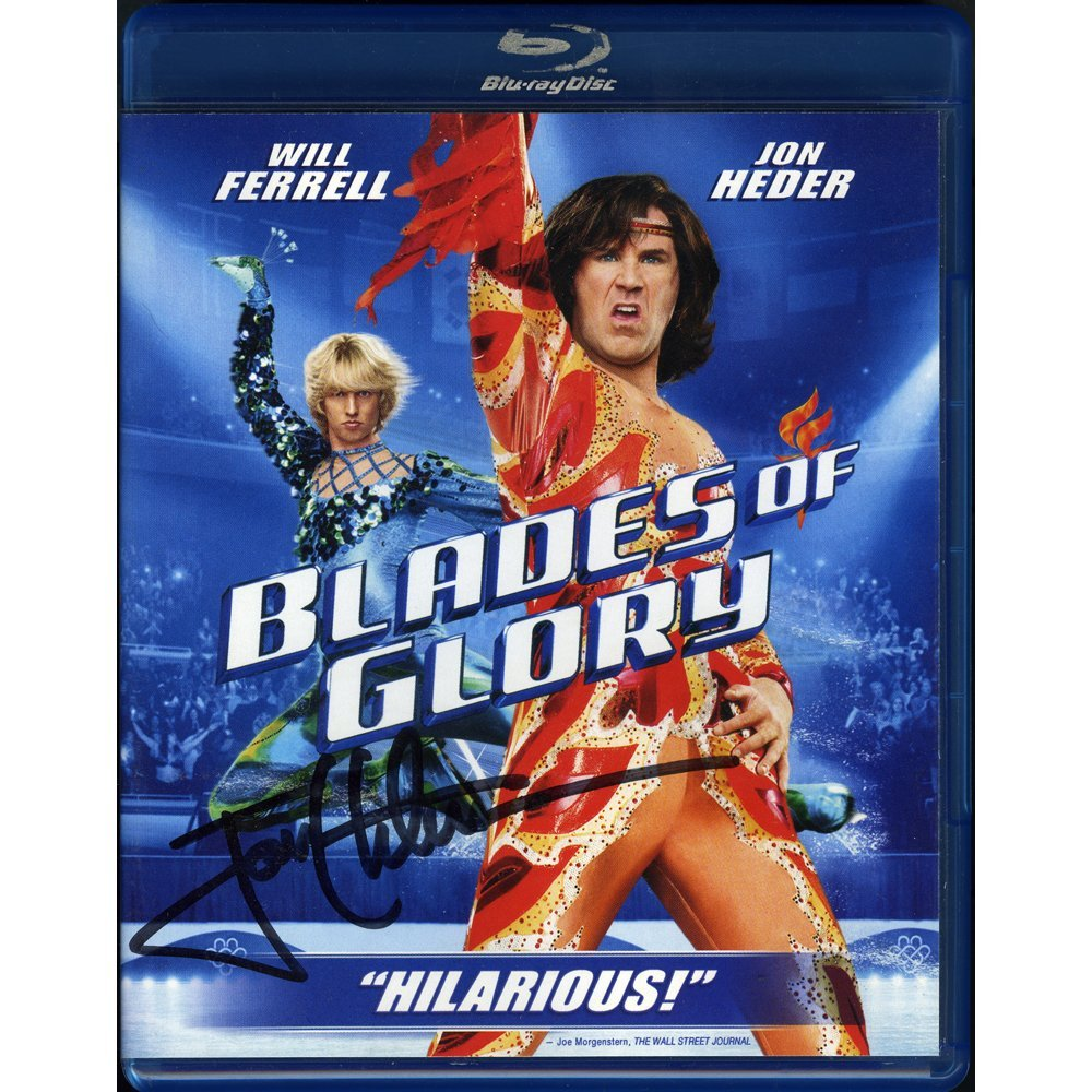 Jon Heder Signed Blades Of Glory Blu-Ray(Excellent)