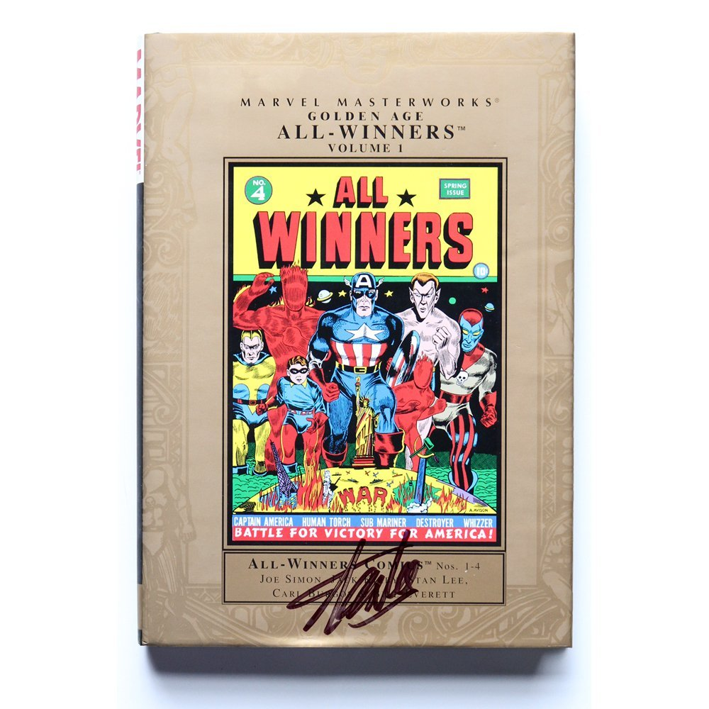 Stan Lee Signed Marvel Golden Age All Winners Vol