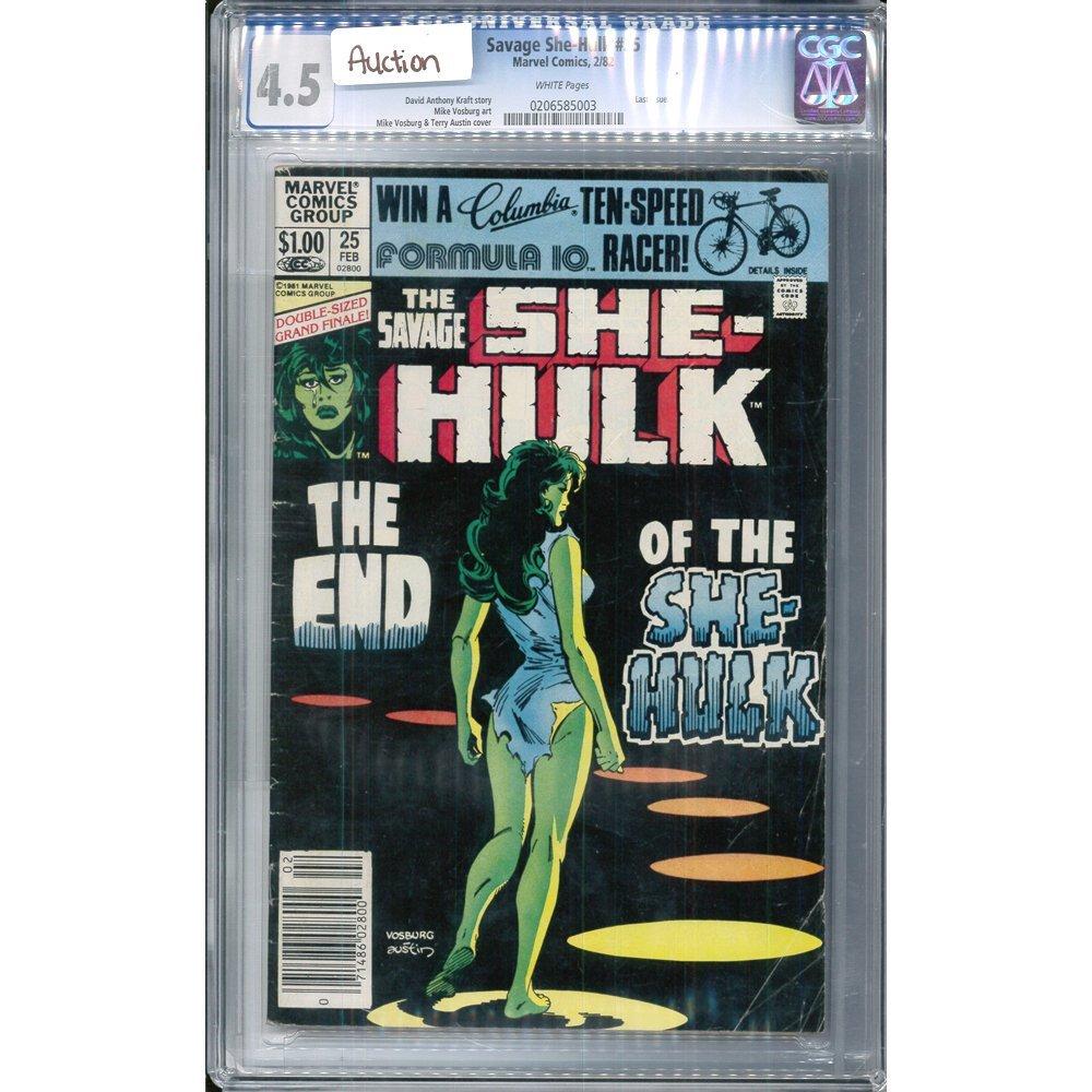 The Savage She-Hulk #25 February 1982 CGC 4.5