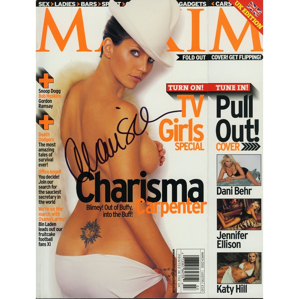Charisma Carpenter Sgd Maxim Mag March 2002(Excellent)