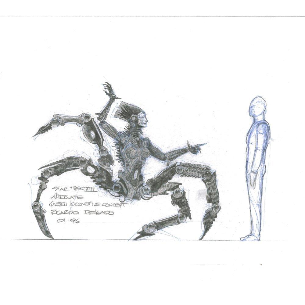 Ricardo Delgado Signed 11x17 Start Trek Concept Art(VG)