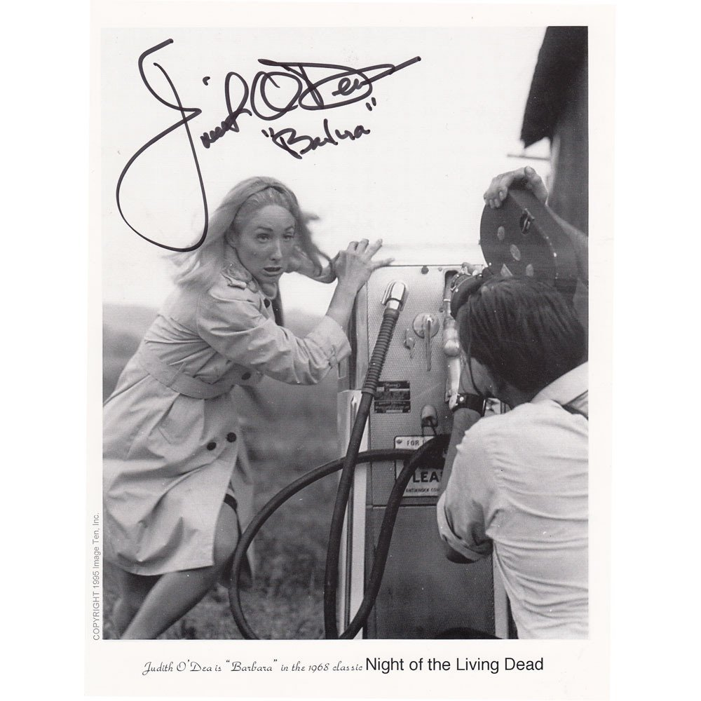 Judith O'Dea Signed 8x10 Prod Photo Night of the Living