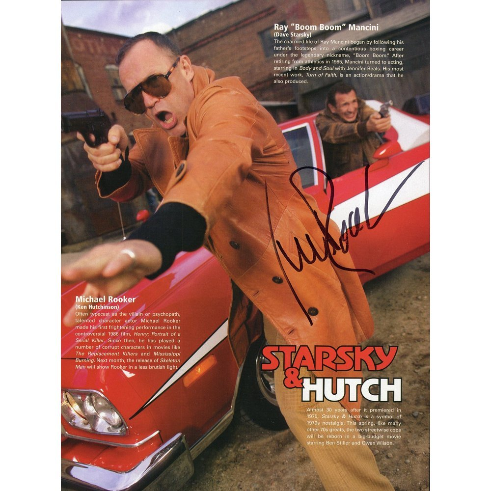 Michael Rooker Signed 8x10.75 Starsky & Hutch