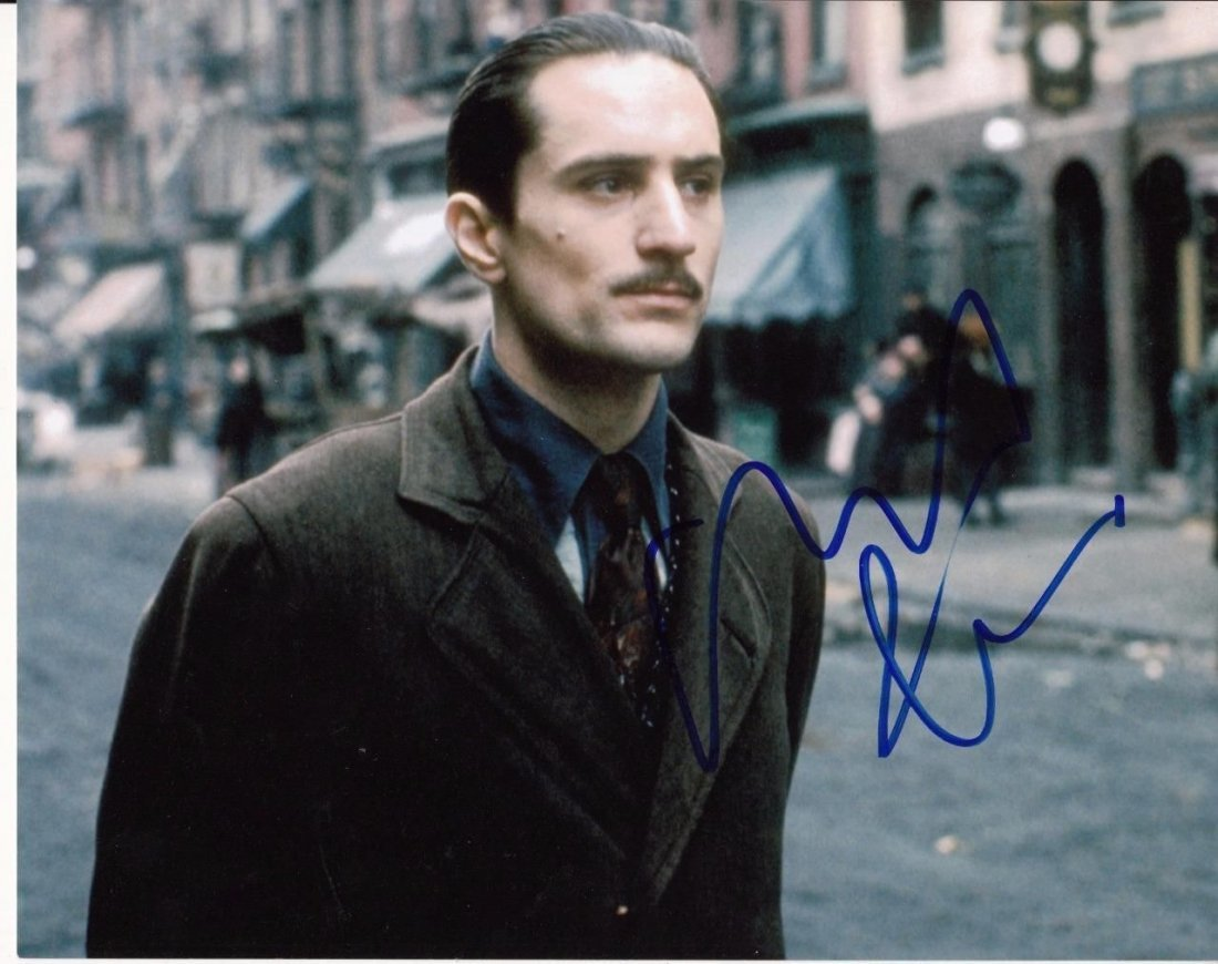 "Robert De Niro Sgnd The Godfather 8x10"" Photo(Ex)"