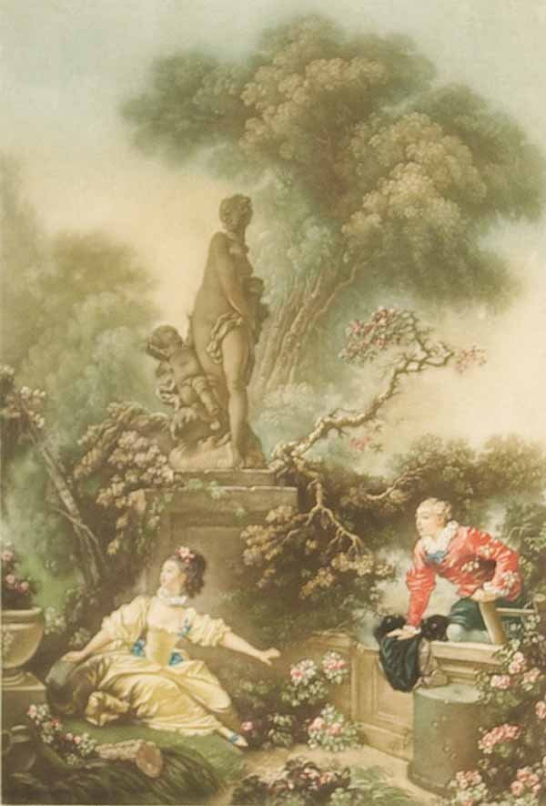 0002: After Jean Honore Fragonard, pair of mezzotints