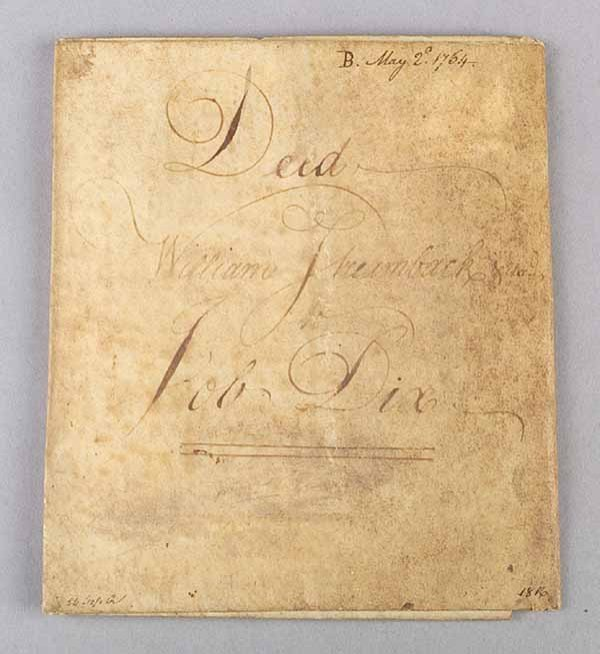 0012: Good American Indenture Document, 1764, inscribed