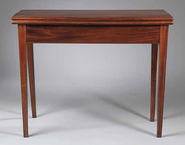 0020: American Federal Mahogany Games Table, c. 1790