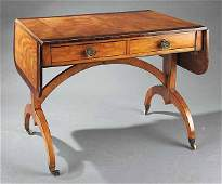 0412: Antique Satinwood and Inlaid Sofa Table