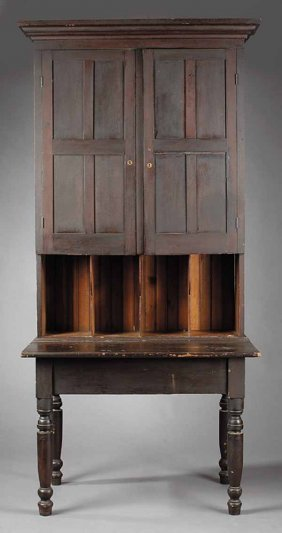0488 Antique Country Sheraton Plantation Desk
