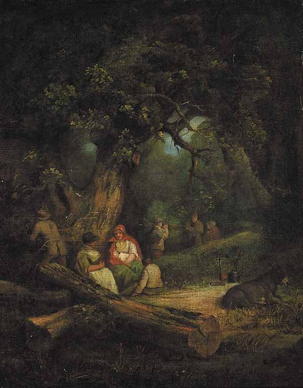 733: Attributed to George Morland, oil on canvas
