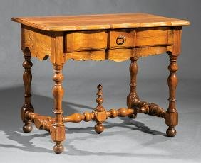 Provincial-Style Carved Fruitwood Console Table