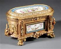 Napoleon III Gilt Bronze Jewelry Casket