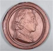 Two Antique American Zinc Portrait Medallions