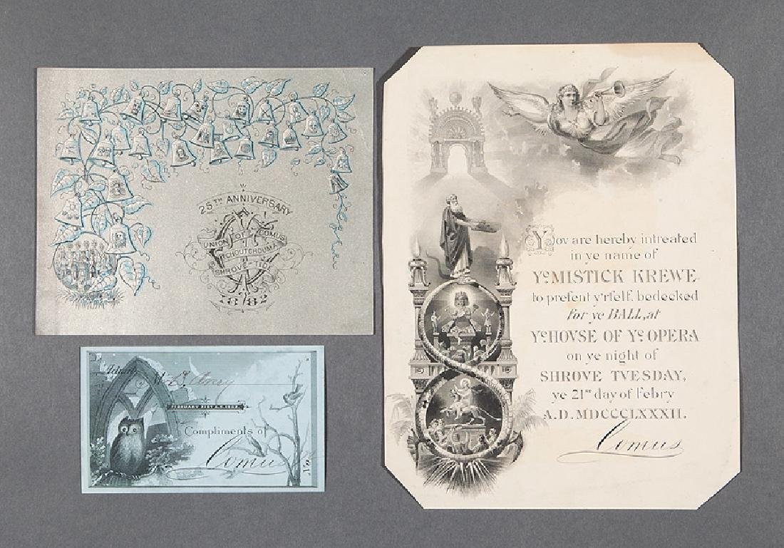 [Mardi Gras] Miskick Krewe of Comus, 1881